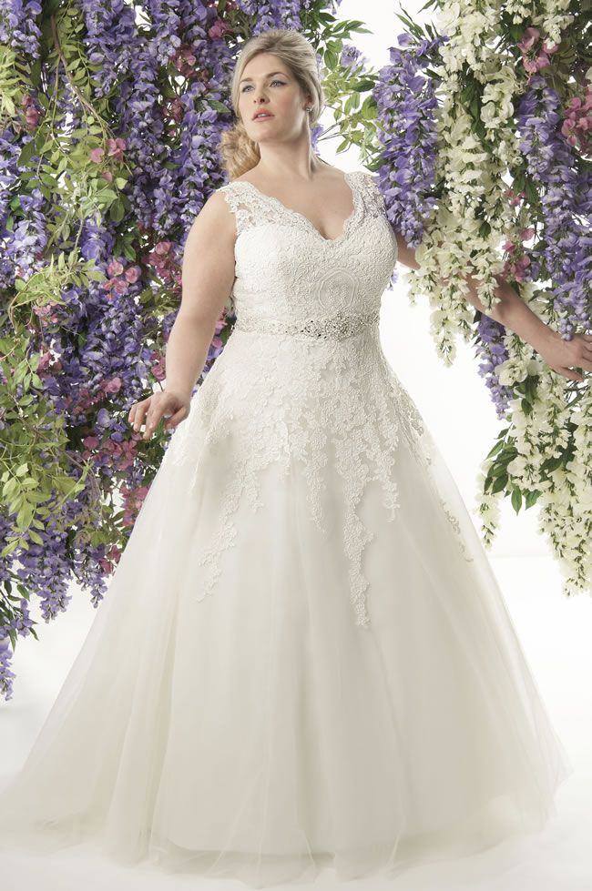 Curvy brides will love this romantic lace collection from ...