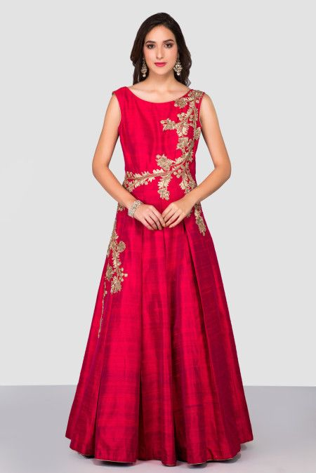 the-style-loft-by-ritu-deora-red-embroidered-gown