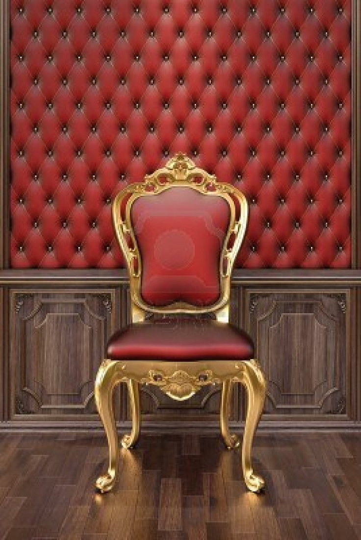 Neo baroque furniture by paolo lucchetta modern furniture design - Golden Chair In The Luxurious Interior Stock Photo