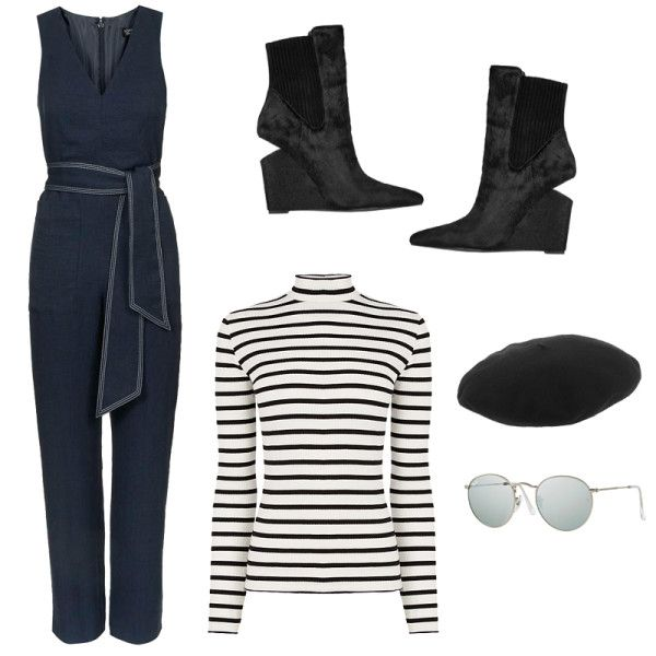 +-+Style+tip:+Go+for+playful+contrast+with+a+striped+turtleneck+under+a+v-neck+wrap+jumpsuit.