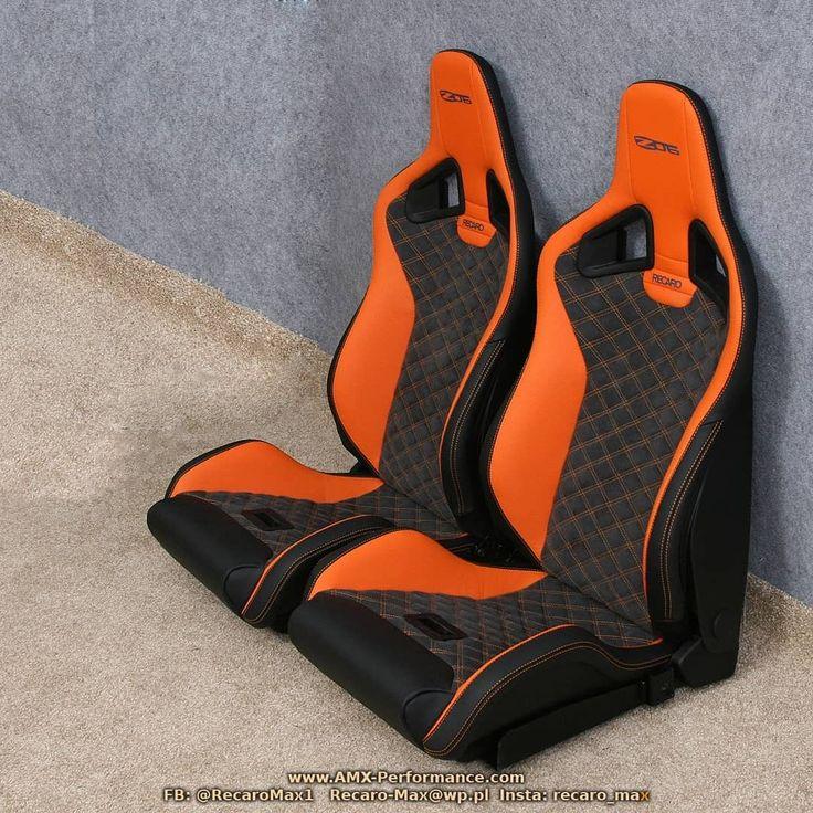 Recaro Sportster Cs Orange Leather Black Alcantara Amx