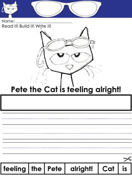Pete the Cat and His Magic Sunglasses Writing Prompts and