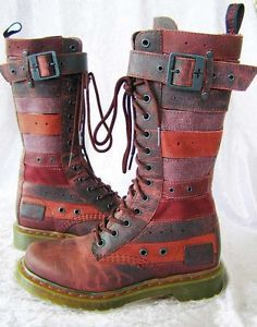 Fabulous-Belt-THEMA-Docs-DR-MARTEN-boots-7-UK5-38-Distressed-Leather