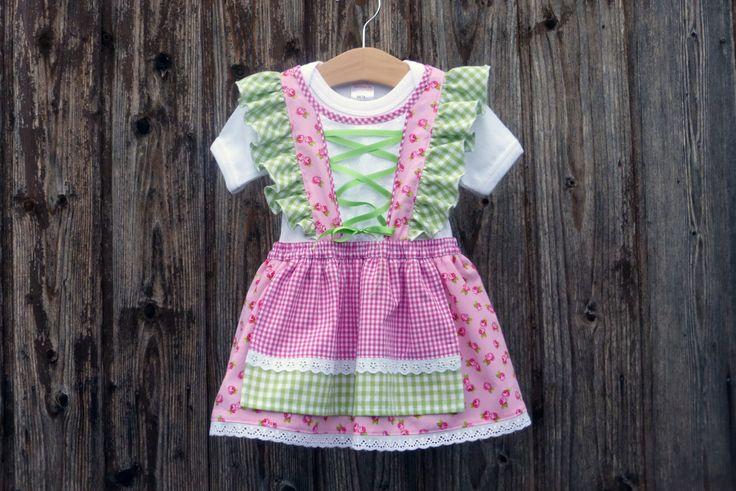 Babydirndl, rosa Taufkleid, Taufe in Bayern, Babybody im Trachtenstil, Dirndl fürs Kind, Kleid fürs Oktoberfest, Babybody im Trachtenstil von NaehereiAllerlei auf Etsy