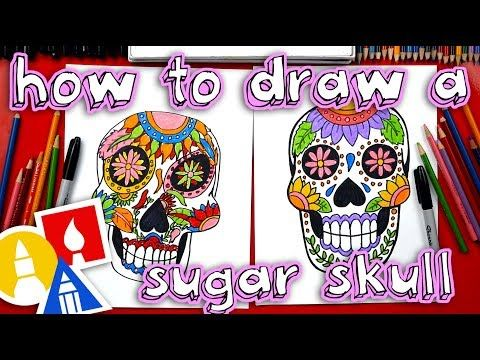 how to draw simple sugar skulls