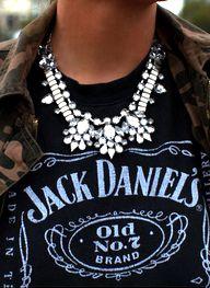 A Model's Secrets: TREND ALERT: Vintage necklaces amazing with a tshirt!