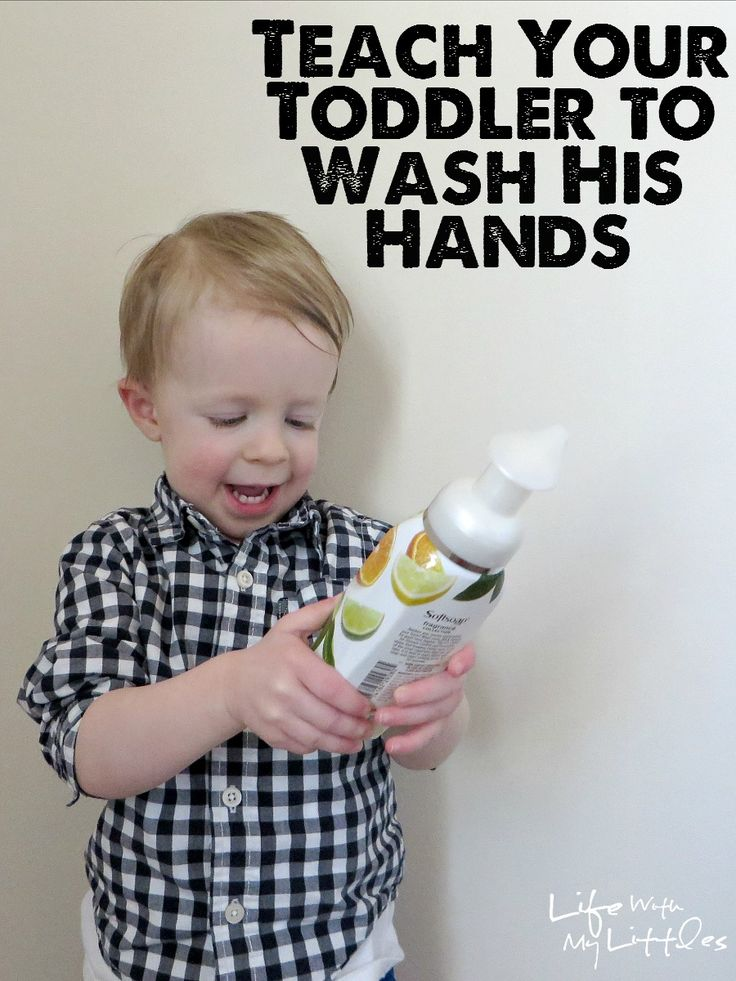 Tips for how to teach your toddler to wash their hands. Six tips that will make it easier when your toddler gets ready for potty training! #FoamSensations #ad