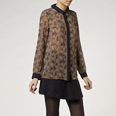 IKKS chemise imprimé léopard