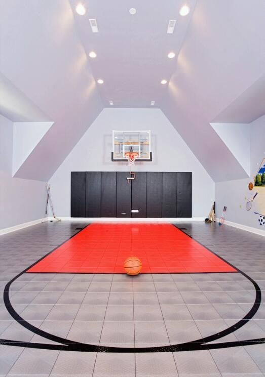 Basketball court in a house Where do people get this money