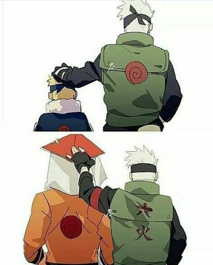 Papa-Kashi Naruto Uzumaki and his sensei Kakashi Hatake #Naruto