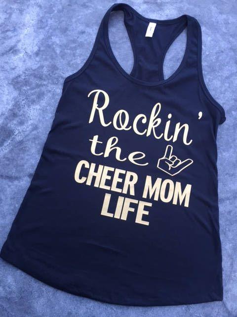 Cheer/Dance Mom Tank, Cheer Mom Shirt, Dance Mom Shirt by MelisCarlosDesigns on Etsy