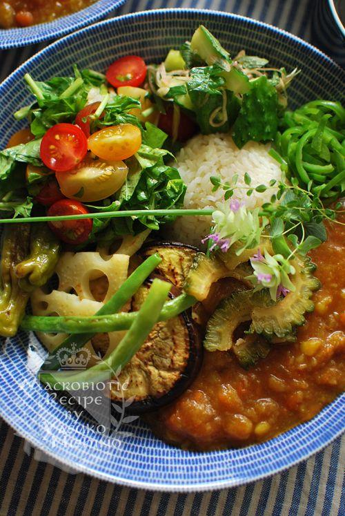 カフェ風カレーランチ夏野菜いっぱいな一皿