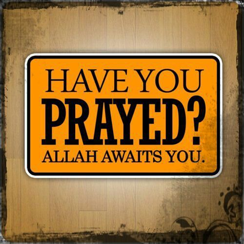 Have you prayed?