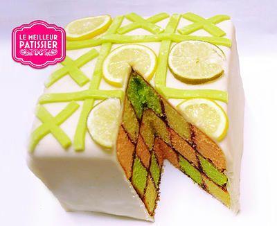 Le gâteau damier d'Emilie, Le Meilleur Pâtissier, Saison3