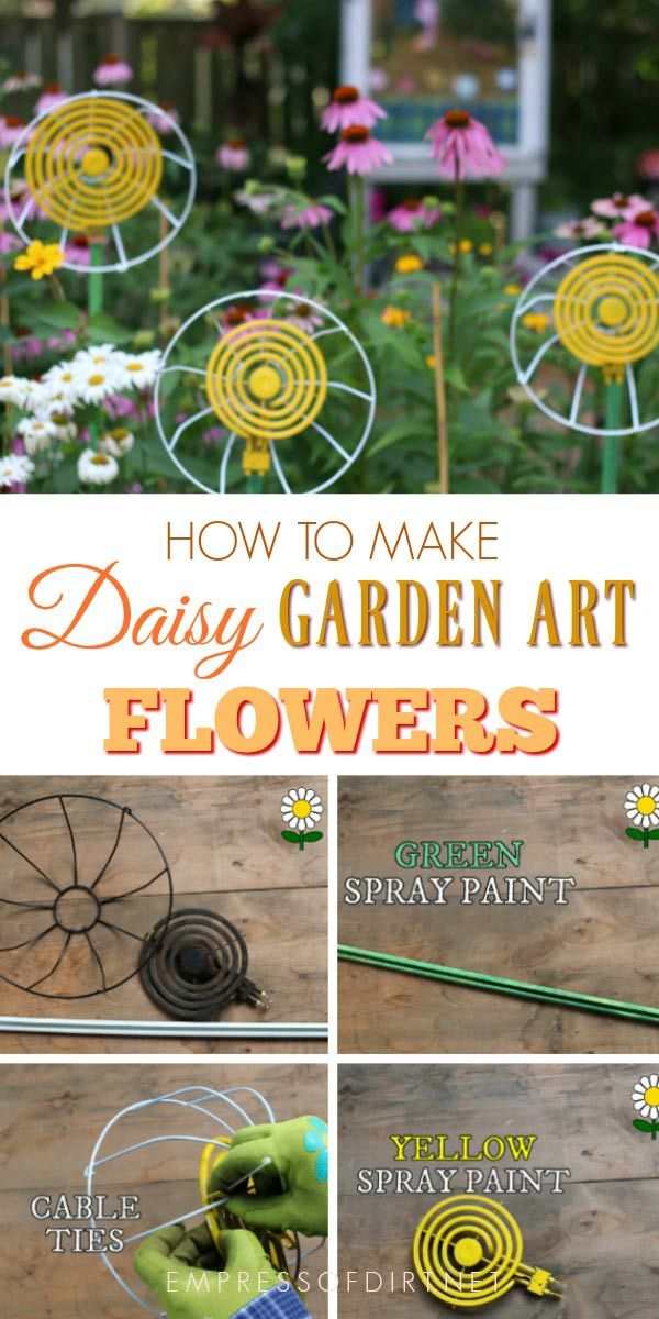 These Easy Garden Art Flowers Are Made From Parts Found At Thrift S And Dollar