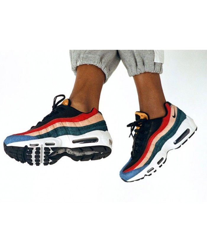 buy popular 0cd9d e9838 Nike Air Max 95 Pony Hair Red Green Yellow Trainer
