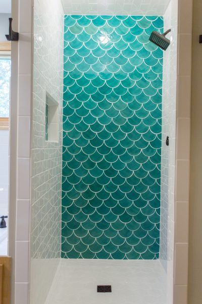 17 best images about bathroom on pinterest bathroom for Fish scale tiles bathroom