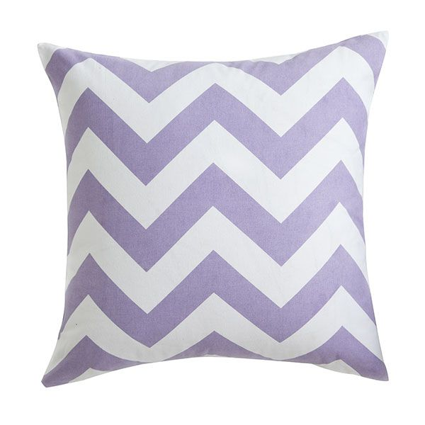 Wisteria - Chevron Pillow Cover (Lavender)