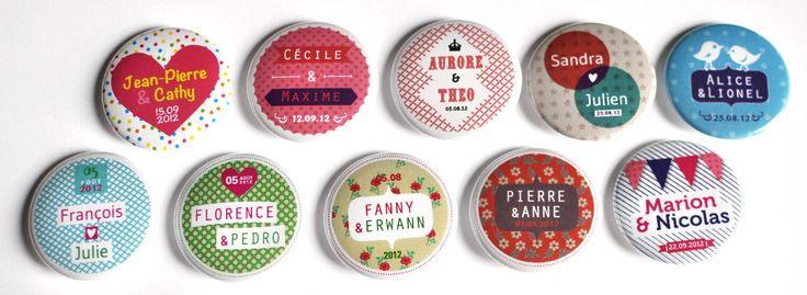 Bulles de Neige: 10 séries de badges personnalisables pour jolis événements