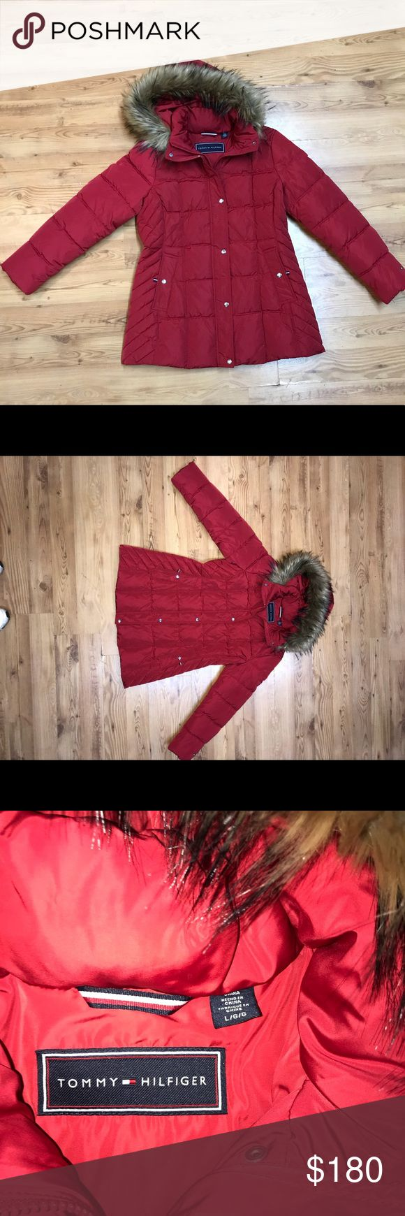 Women's Tommy Hilfiger down Jacket with fur hood Women's Tommy Hilfiger down Jacket with fur hood  Hood is detachable   NWOT Tommy Hilfiger Jackets & Coats Puffers
