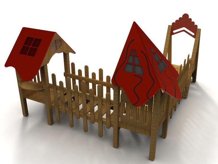 VG1003A - Iki Çatılı Ahşap Oyun Grubu | Ahşap Çocuk Oyun Parkları | Ahşap Oyun Grupları | Çocuk Oyun Parkları | Doapark