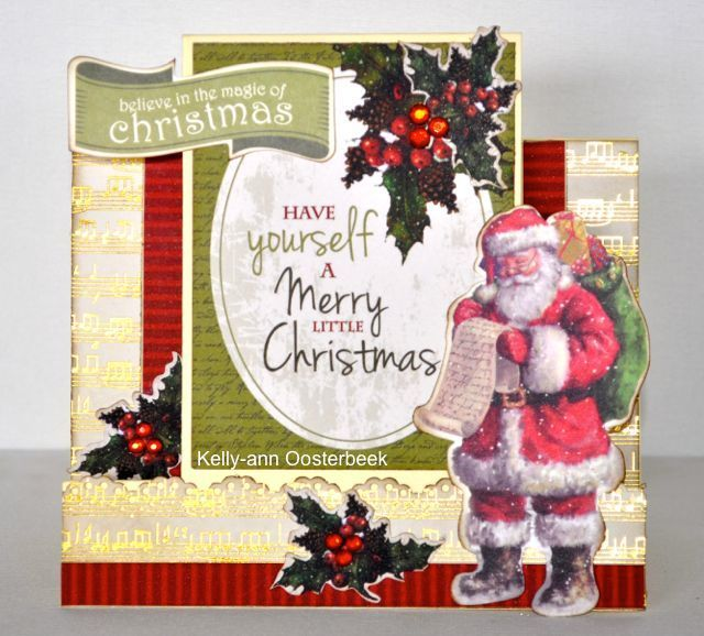 A step card made using the Yuletide Collection from Kaisercraft by Kelly-ann Oosterbeek.