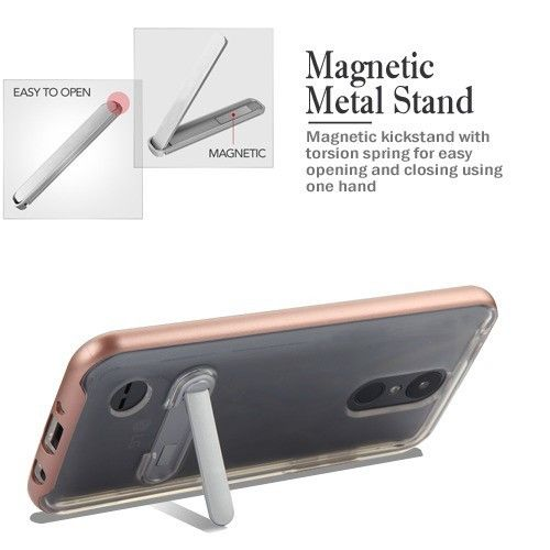 LG Zone 4 Rose Gold/Transparent Clear Hybrid Protector Cover