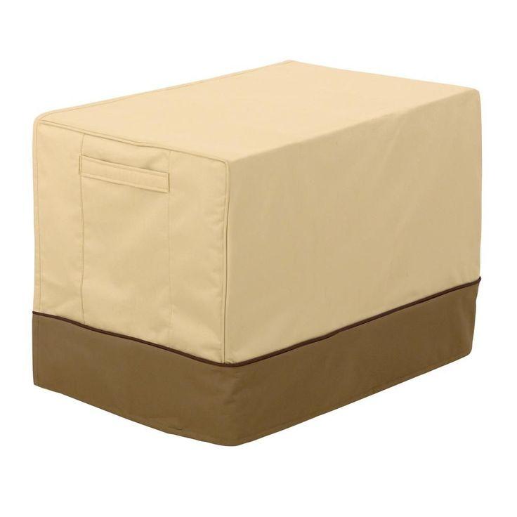 Classic Accessories Veranda Medium Window Air Conditioner Cover, Pebble/Earth/Brown