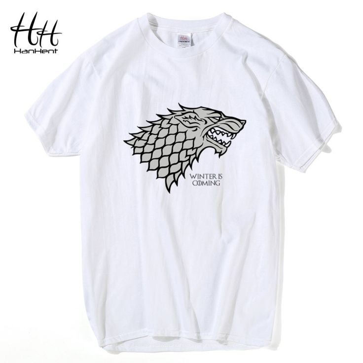 Game of Thrones Stark Wolf Winterfell 'Winter is Coming' Print Cotton T-Shirt //Price: $7.35 & FREE Shipping //     #gots7