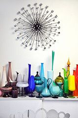 Zainido Vintage's Glass Studio - Oakland, CA (Dee Speed) Tags: blue red orange white green art glass yellow vintage grey design amber bottle italian purple gray olive plum vase ashtray apothecary decor pitcher scandinavian decanter butterscotch midcentury madmen compote holmegaard cased blenko empoli zainido