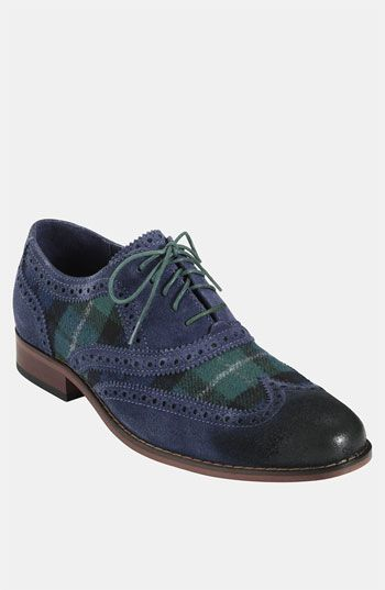 Michelle: they are tartan! (Cole Haan 'Air Colton' Wingtip Oxford available at Nordstrom)