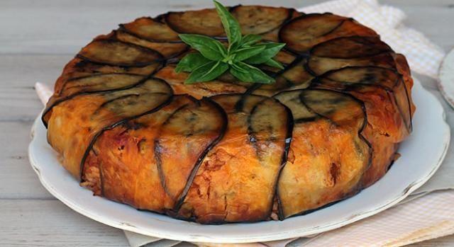 Timballo di melanzane e pasta. Un primo piatto ideale per gli amanti della pasta