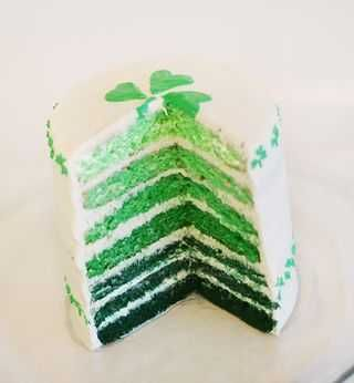 The Greens of Ireland cake for St. Patrick's Day ... and the