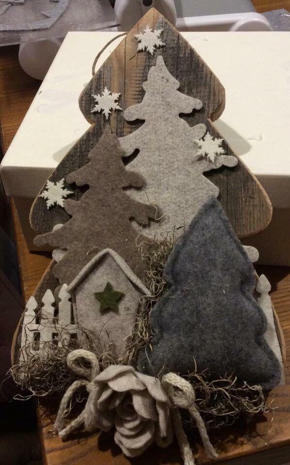 Decorazioni Natalizie In Feltro Pinterest.Risultati Immagini Per Pinterest Natale Feltro Alberi Di Natale