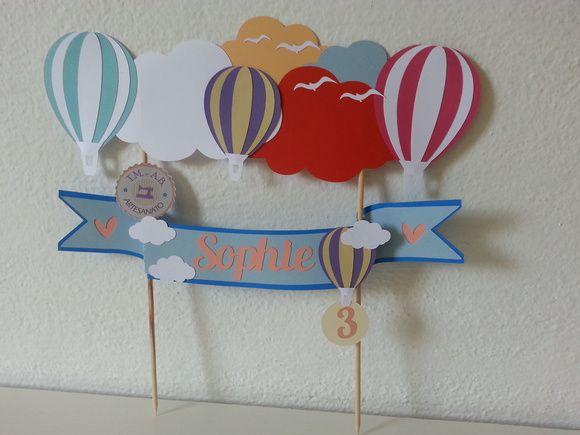 Topper cake Balão - Topo de bolo balão