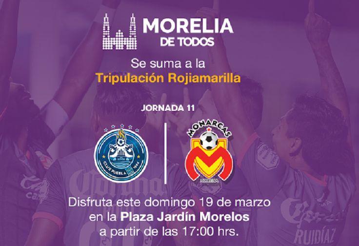 En esta lucha por la permanencia, el Ayuntamiento y Monarcas Morelia invitan a la ciudadanía a apoyar al equipo y pintar de amarillo esta emblemática plaza de la capital.