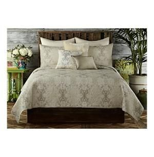 Web exclusive! Relax in an elegant bedroom with a Tracy Porter Gigi Tan Quilt. The transitional quilted bedspread is done in faded ironwork pattern that blends old-world warmth and modern global chic to complement traditional or contemporary $300.00 by Bon-Ton