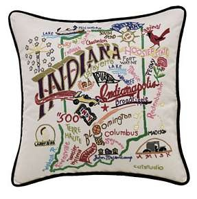 Indiana State Pillow  Seasons Gifts and Home  State