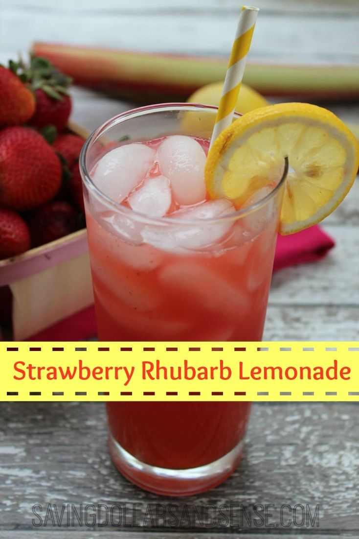 ... Strawberry Rhubarb Lemonade with my own home grown rhubarb!! #