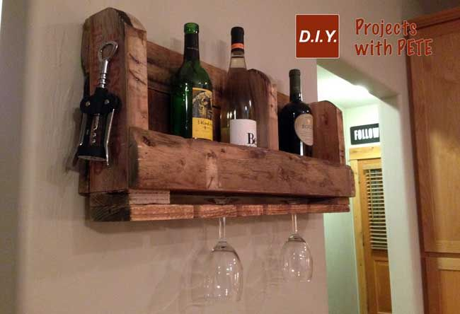 pallet wine rack tutorial diy pinterest