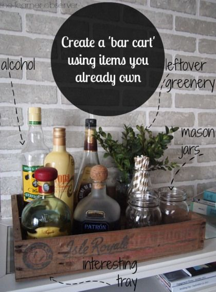 Shop the House: Build a bar with accessories you already own - by The Learner Observer