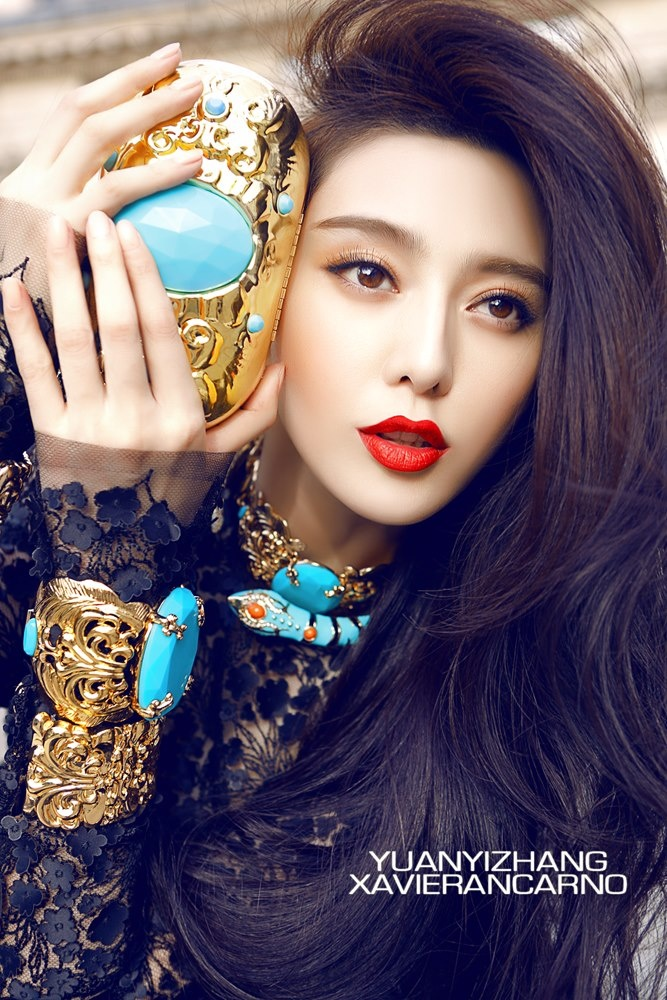 Fan BingBing for H and M x Anna Del Russo China campaign