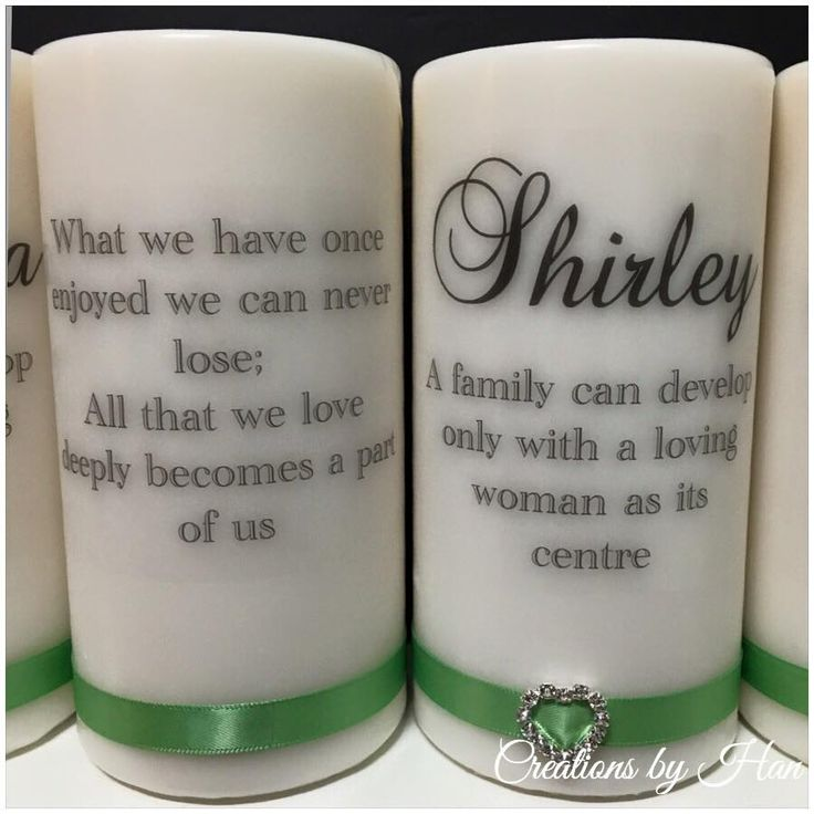 In loving memory candle set