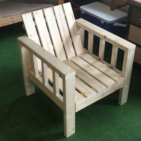 My Simple Outdoor Lounge Chair with 2x4 modification