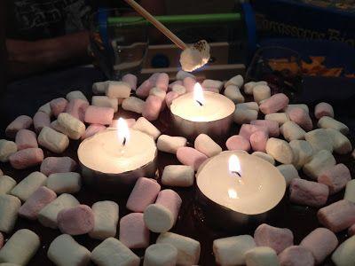 Faith and Felt Obsession: Campfire Birthday Cake