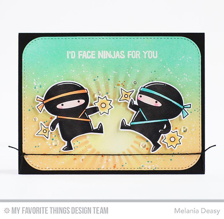 Ninja-mazing Stamp Set and Die-namics, Radiating Rays Stencil, Blueprints 31 Die-namics - Melania Deasy  #mftstamps