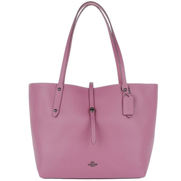 Coach Handle Bag - Metallic Lining Market Tote Primrose - in rose -... (555 CAD) ❤ liked on Polyvore featuring bags, handbags, tote bags, rose, purple tote bags, handbag purse, tote handbags, lined tote bag and coach tote bags