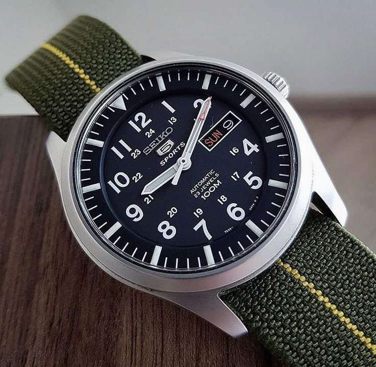 Time Seiko 5 Military Field Watch. Field watches