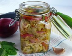 #ricetta#gialloblogs #foodporn Giardiniera di melanzane senza cottura   In cucina con Mire