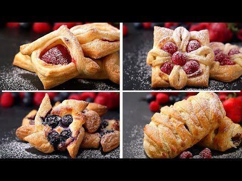 Pastelillos de hojaldre. 4 recetas originales